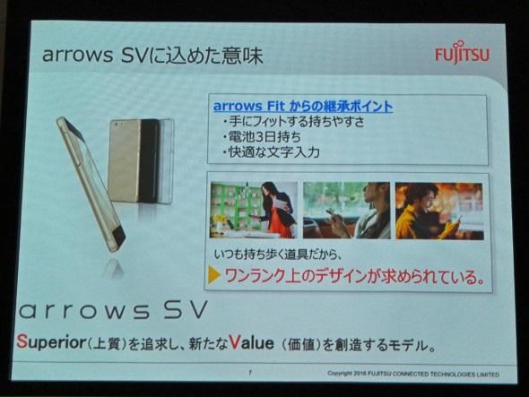 arrows SVのコンセプト