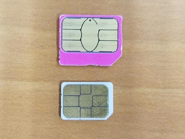 Micro SIMとNano SIM