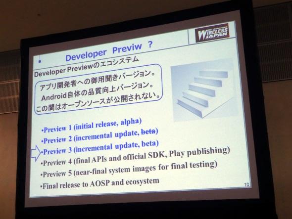 ベータ版となるはずだったPreview 2がアルファ版のままに