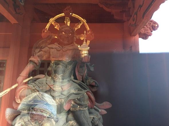 普通に毘沙門天像を撮ってみる