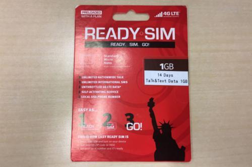 READY SIMパッケージ写真