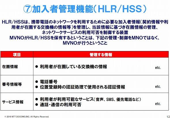 HLR/HSS