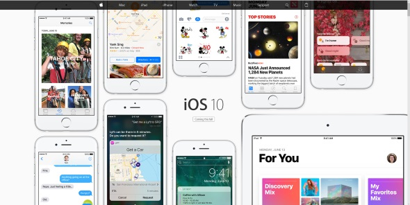 iOS 10特設サイト