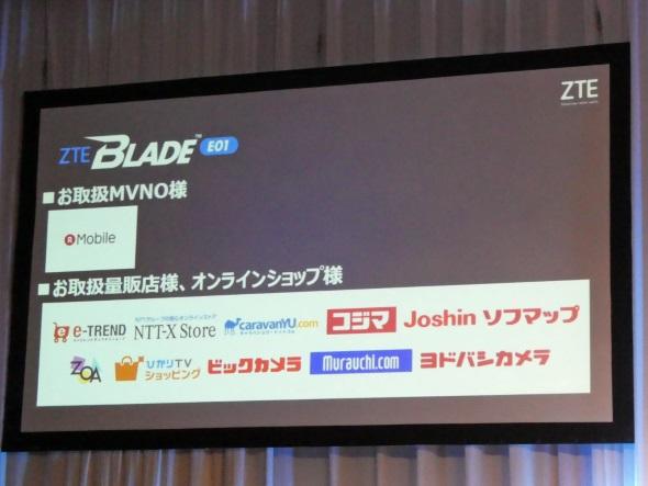 BLADE E01の販路