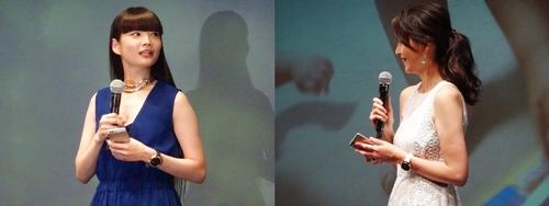 左:秋元梢、右:青木裕子