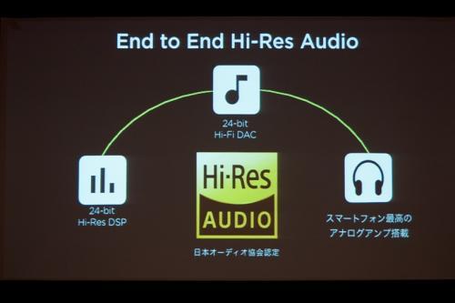 日本オーディオ協会の「ハイレゾマーク」を取得