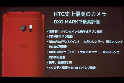 HTC史上最高のカメラを搭載