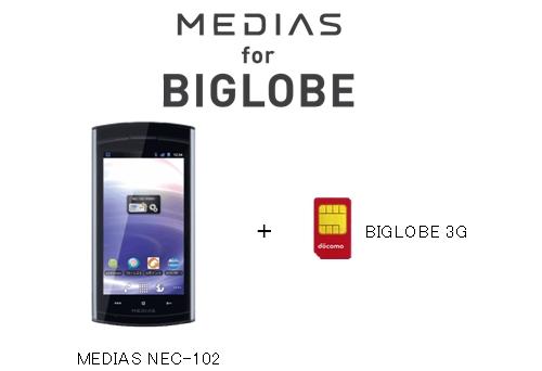 格安SIM事業を開始した2012年当初は「BIGLOBE 3G」という名称