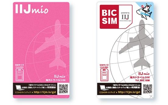 IIJmio海外トラベルSIMサービスのパッケージ