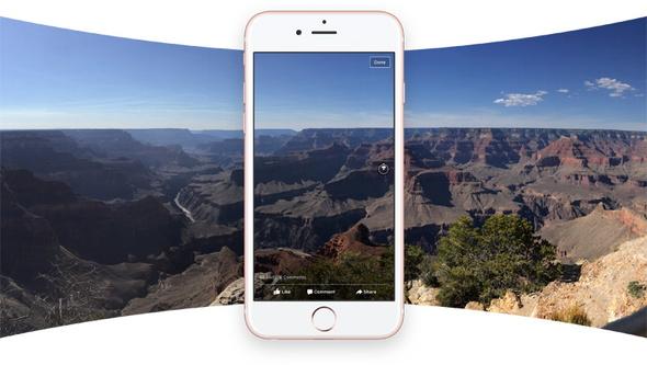 全方位を映した「360写真」が投稿可能に