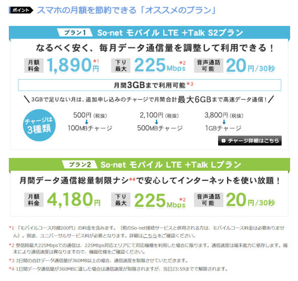 So-net モバイル LTE