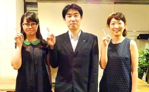 ※画像は左から、女子部JAPAN 村上 紗織氏、ケイ・オプティコム 上田 晃穂氏、女子部JAPAN 小林 奈巳氏