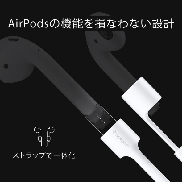 AirPodsのイヤピースに取り付けて使う