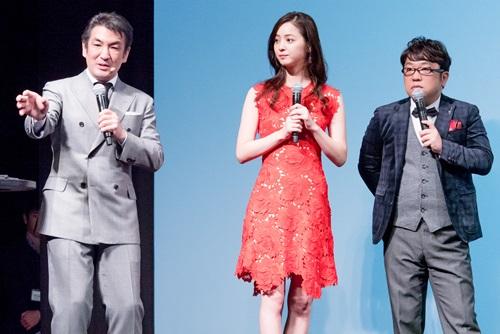 CMに出演している佐々木希さんとキャイ〜ンの天野ひろゆきさん