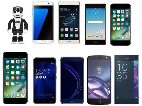スマートフォン・オブ・ザ・イヤー2016のノミネート端末
