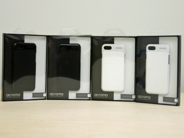 「acroma Texture case for iPhone 7」のパッケージ