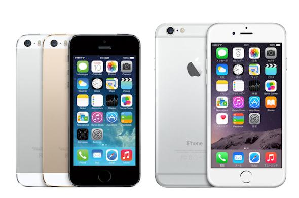 iPhone 5sと6