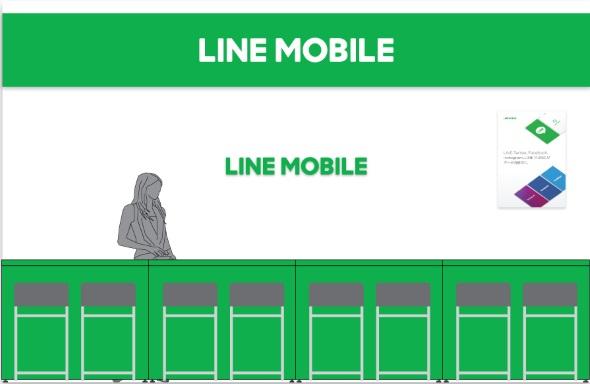 LINEモバイルカウンターのイメージ