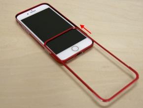 iPhoneをはめてフレームを元通りにする