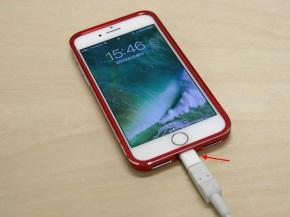 Lightning - Micro USBアダプタを装着