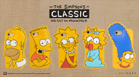 THE SIMPSONS DIE-CUT for iPhone7/6s/6