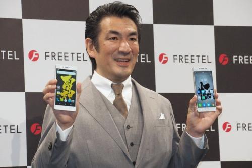 「FREETEL」ブランドでスマートフォンを提供しているプラスワン・マーケティング
