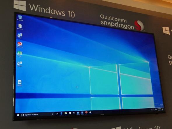 ARM版Windows 10のデスクトップ