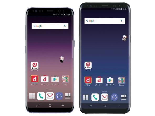 「Galaxy S8 SC-02J」(左)と「Galaxy S8+ SC-03J」(右)