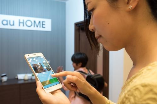 アプリを通じて自宅に居る子どもと会話可能