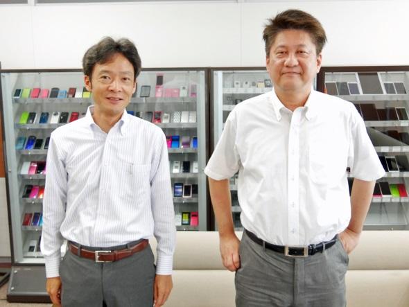 筆者に付き合ってくださった多田部長(右)と岡本グループリーダー(左)