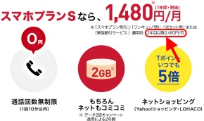 Y!mobileの料金