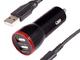オウルテック、超タフストロングケーブル&急速充電対応の車載用充電器をセット販売