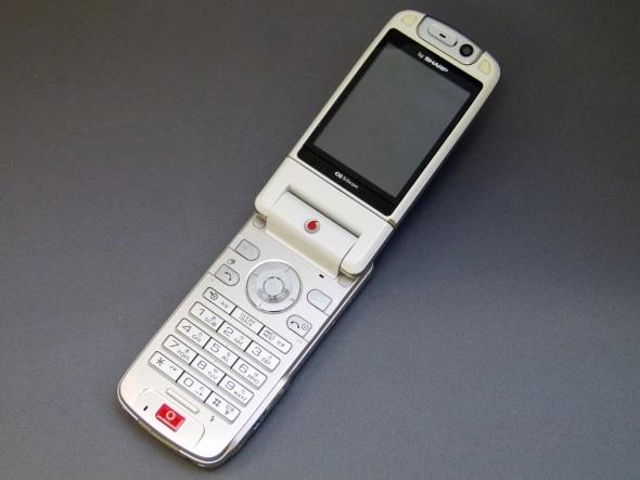 「Vodafone 902SH」(開いた正面)
