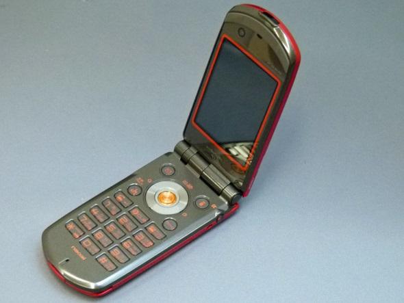 「N903i」(開いた正面)