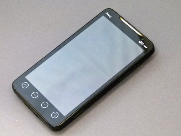 「HTC EVO WiMAX ISW11HT」(正面)