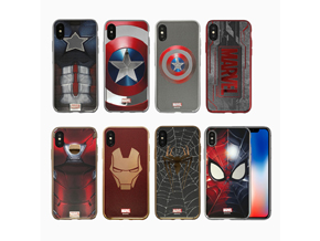 iPhone X用ソフトケース「S2B MARVEL DESIGN ソフトTPU for iPhone X」