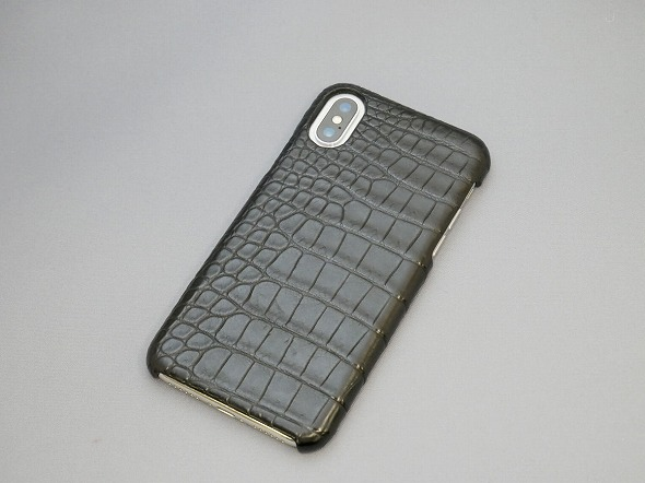 GRAMAS Meister Crocodile Leather Case for iPhone X