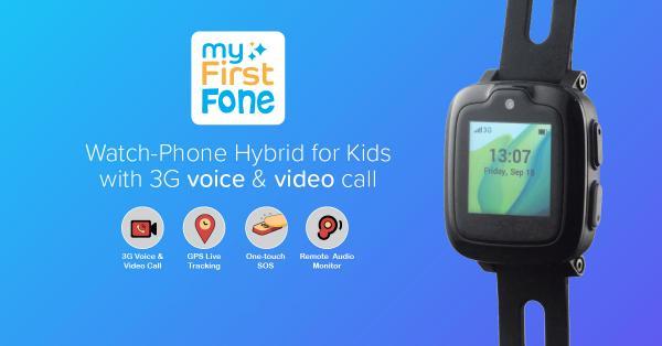 子どもの見守り機能を備えた腕時計型スマートフォン「myFirstFone」登場