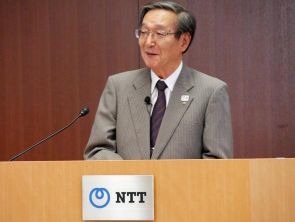 NTTの鵜浦博夫社長