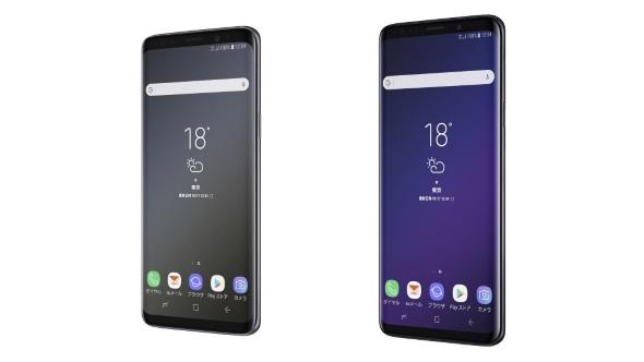 Galaxy S9 SCV38(左)とGalaxy S9+ SCV39(右)