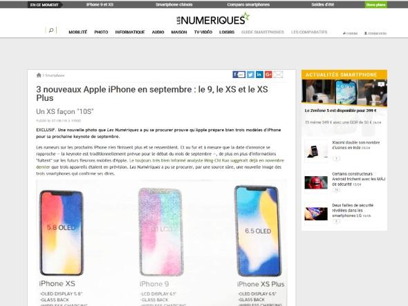 Les Numeriquesの記事