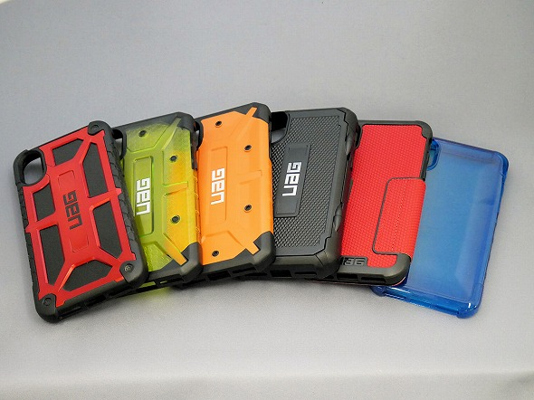 d85a41446b UAGのiPhone X向けケース 。左から「MONARCH」「PLASMA」「PATHFINDER」「TROOPER」「METROPOLIS」「PLYO」