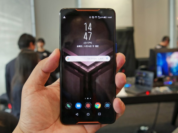 ROG Phone(ZS600KL)の正面