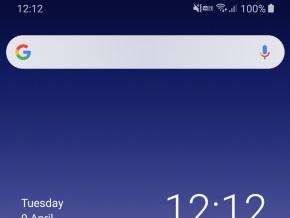 Android 9のステータスバー