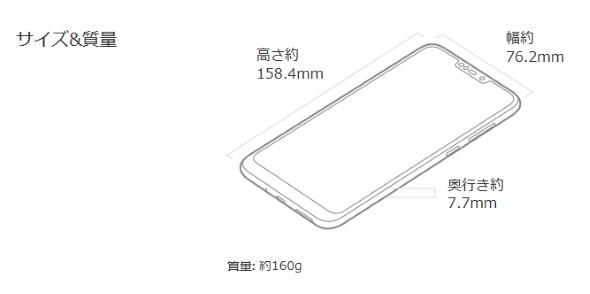 ZenFone Max (M2)のサイズ
