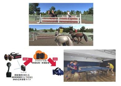 「PLAY 5G 明日をあそべ」VR障害物乗馬レース、卓球・バレーのVR観戦