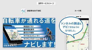 「自転車NAVITIME」活用イメージ