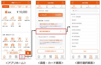 「au WALLET アプリ」の登録方法