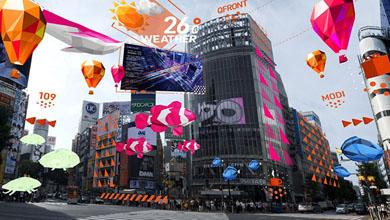 専用アプリから見た渋谷スクランブル交差点のイメージ図