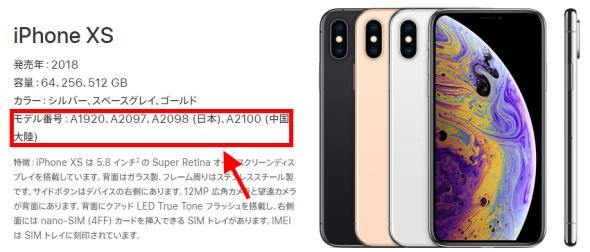 iPhoneのモデル